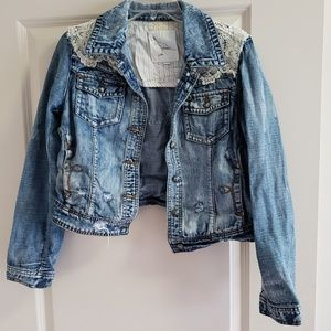 Lace and Denim Jacket